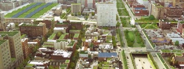 Philadelphia Green City Clean Waters green infrastructure program vine street expressway green roof philadelphia convention center