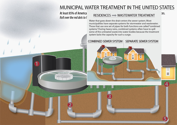 Municipal Water Treatment in the United States Infographic