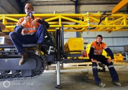 Australia coal export port of newcastle new south wales natural gas coal seam gas LNG muswellbrook atlas copco