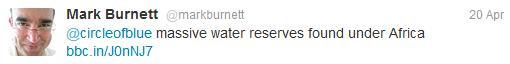 Twitter Circle of Blue Mark Burnett