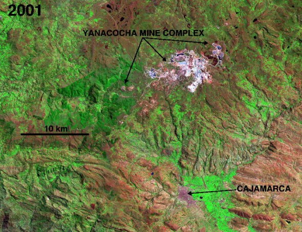 Yanacocha gold mine Peru Cajamarca Latin America Newmont Mining Corporation Minas Conga copper