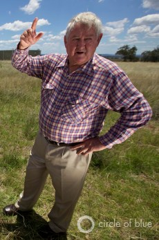 Australia Liverpool Plains Mullaley New South Wales Bill Hobson Santos farm farmers irrigation food production drought energy coal seam gas water supply