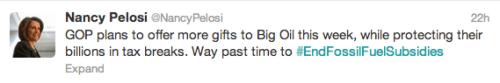 #EndFossilFuelSubsidies Pelosi Twitter Rio fossil fuel subsidies twitterstorm 350.org