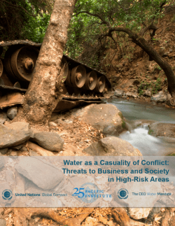 water conflict United Nations Global Compact CEO Water Mandate high risk