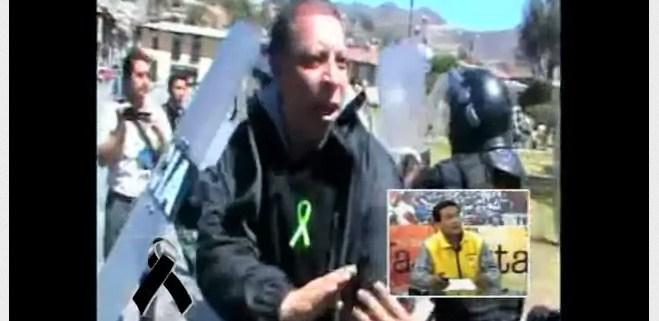 Marco Arana Peru Protest Conga Mine Police