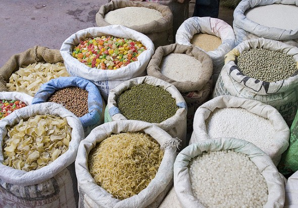 India food inflation grain market lentil pea corn rice