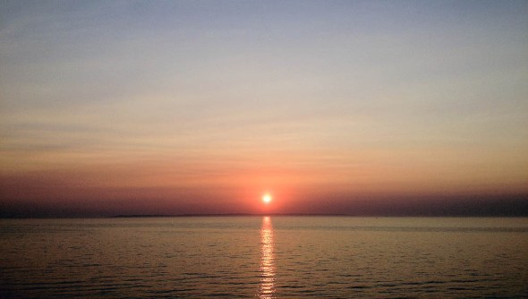 Lake Michigan sunset traverse city circle of blue