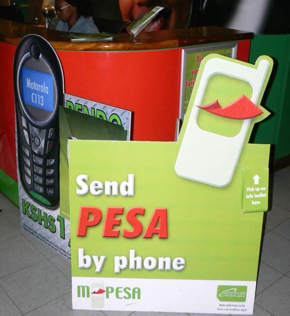 M-PESA Kenya mobile phone payment water utility