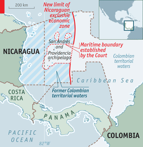Nicaragua Colombia Boundaries