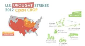 infographic corn crop u.s. united states america drought 2012 food production scarcity