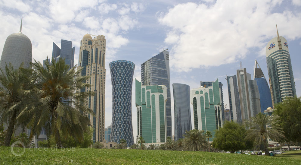 Doha's skyline has risen in less than a decade.