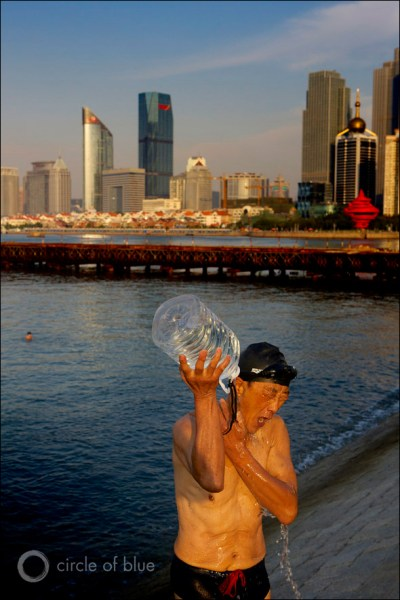 China Qingdao Pacific Ocean Coast city coal energy water wastewater treatment desalination carbon footprint Circle of Blue Wilson Center China Environment Forum J. Carl Ganter