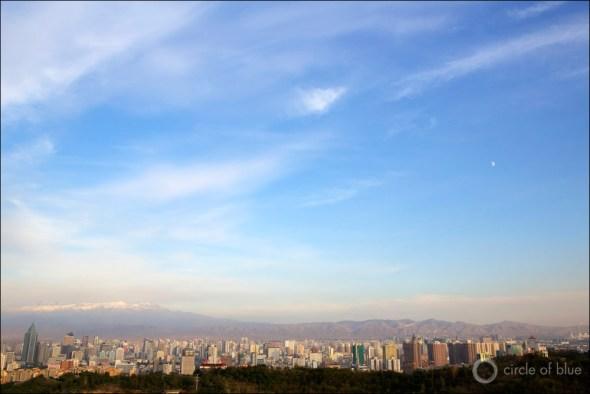 China Urumqi city air quality rating pollution desert northwest coal water energy Circle of Blue Wilson Center China Environment Forum J. Carl Ganter