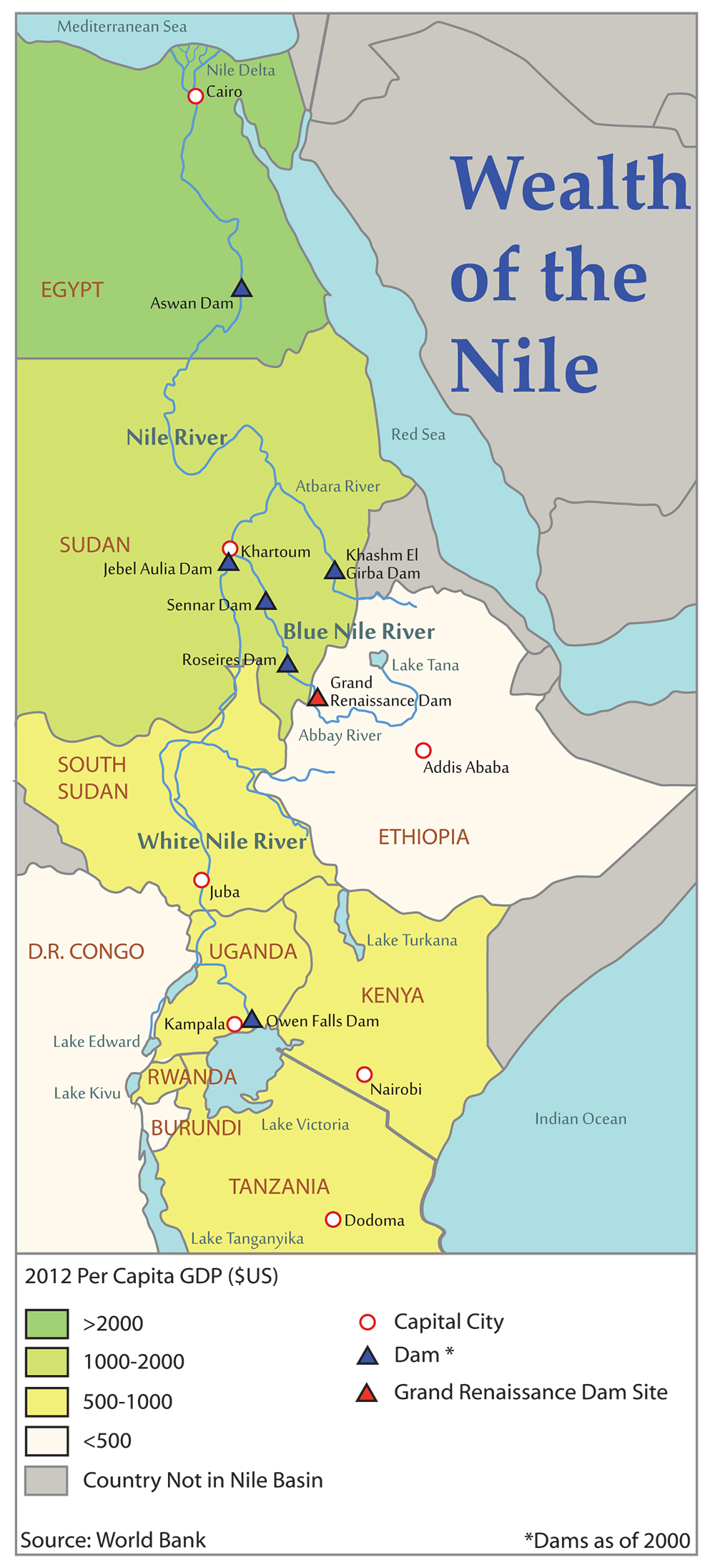 Super Dam Egyptian Concern For Nile Water Security Spurs - Nile river location on world map