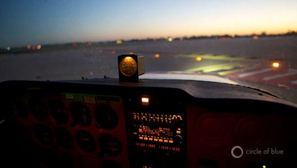 Austin Texas Lake Travis flying flight take off airport J. Carl Ganter Circle of Blue