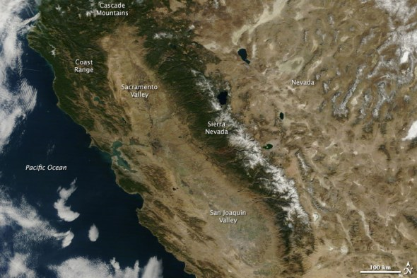California drought sacramento Sierra Nevada snowpack water supply 2014 restrictions reservoirs