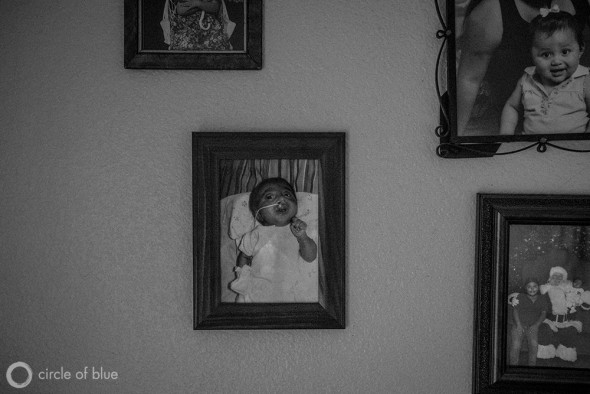 Maria Salcedo's ten month old daughter, Ashley Alvarez, died from complications stemming from mutliple birth defects during a rash of such occurances in Kettleman City, a small farmworker town in the Central Valley.