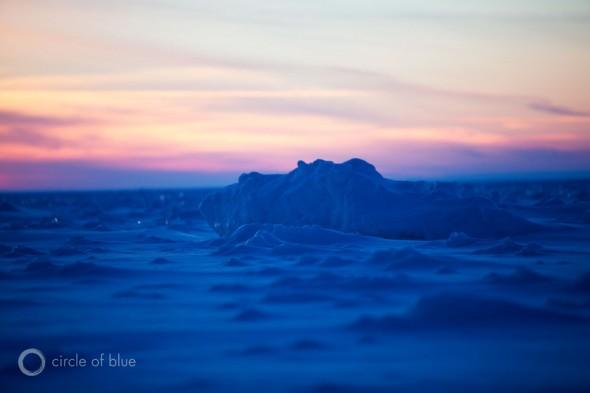 Lake Michigan ice caves