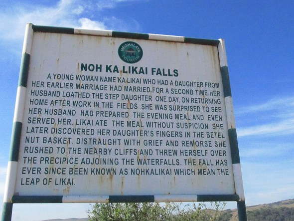 The sign near the falls describes the worst of human behavior.