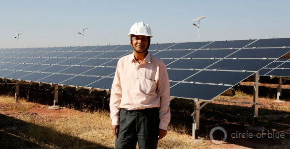 """People in this place have been working with nature's energy, what we now call renewable energy, for a very long time,"" says S.K. Mather, a wind and solar energy project officer with the Rajasthan Renewable Energy Corporation. ""It's one of the reasons we're making good progress with our projects."""