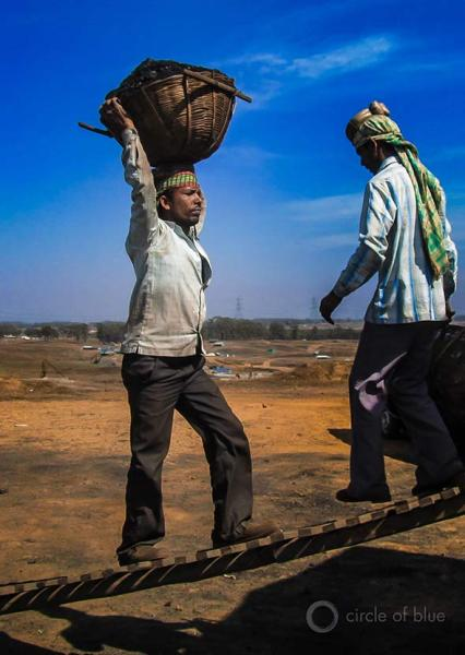 In Meghalaya, a northeast India state, coal mining is done by hand in dangerous pits and shafts. Coal is loaded by hand into trucks for transport to steel, cement, and chemical plants in neighboring Assam.