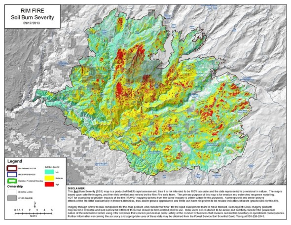 California drought Rim Fire recovery Stanislaus National Forest Yosemite National Park