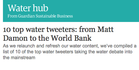 Circle of Blue Guardian Sustainable Business Twitter Water Tweeters #Waternews