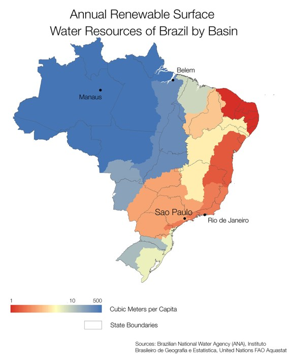 Brazil water supply per capita map kaye lafond circle of blue infographic annual renewable water resources by basin