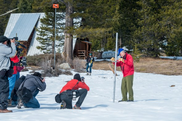 California drought snowpack DWR snow survey January 2015 water supply