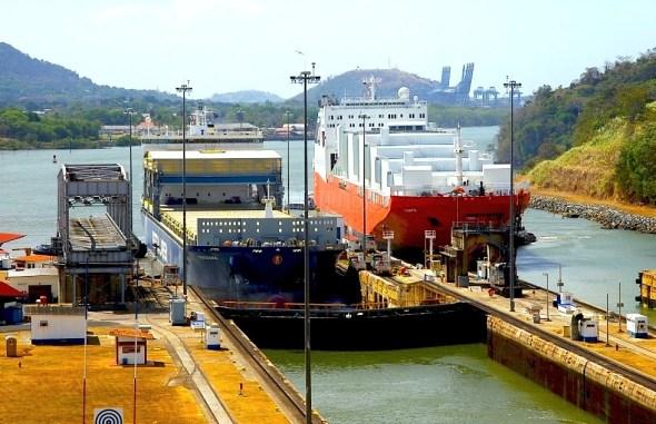 Panama Canal lockage transit ship ships lock locks expansion infrastructure shipping global trade