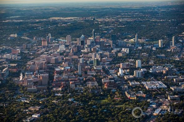 Texas downtown Austin skyscraper aerial photo urban population growth urbanization drought J. Carl Ganter Circle of Blue