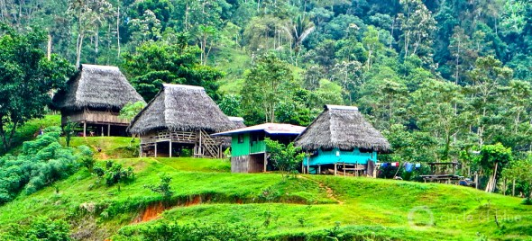 Panama Changuinola River hydropower dams thatched houses