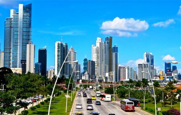 Panama City downtown skyline economy development