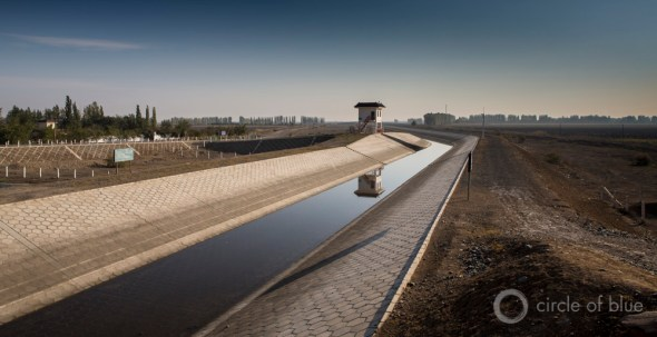Urumqi China water supply canal infrastructure irrigation desert drought J. Carl Ganter Circle of Blue