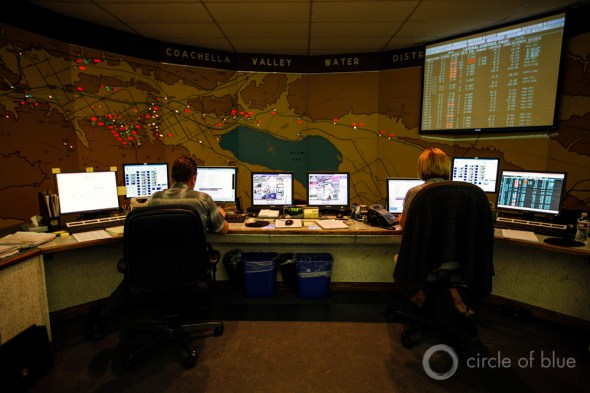 Coachella Valley Water District California control room water supply drought irrigation Brett Stirton Circle of Blue