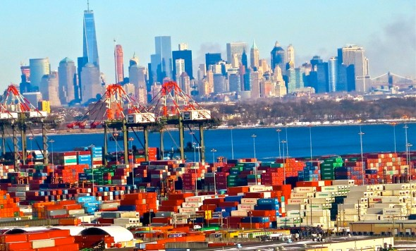 New York New Jersey port authority shipping containers world trade New York harbor