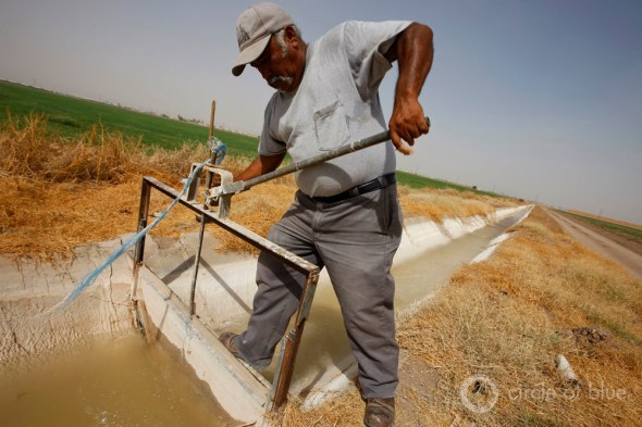 California Coachella Valley agriculture water use desert drought canal gate