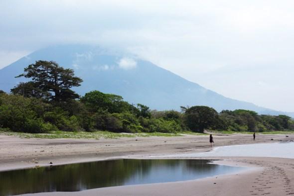 Lake Nicaragua canal Ometepe Island water volcano