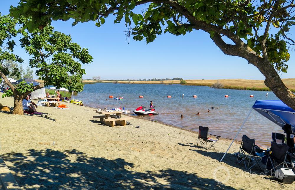 Oroville lake California drought reservoir level recreation swimming