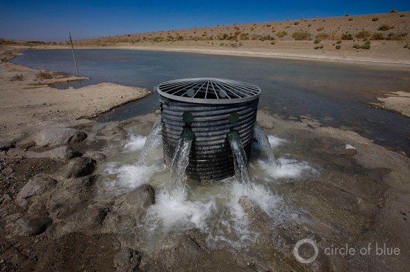 California Coachella Valley groundwater recharge basin aquifer