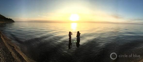 Lake Michigan swimming kids sunset clean water act carl ganter circle of blue