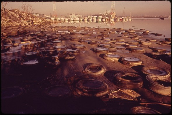 Clean Water Act water pollution United States 1973 Middle Branch Baltimore Harbor trash tires
