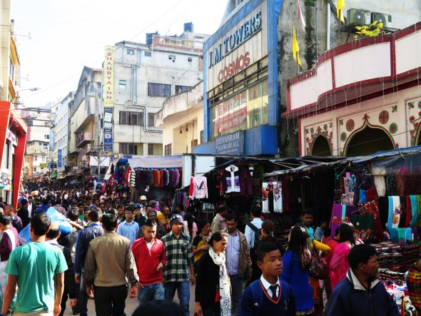 India world population growth Shillong market