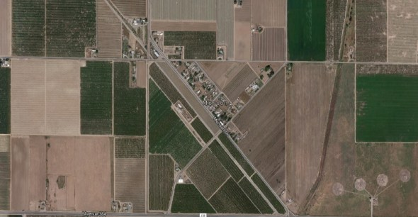 Monson California agriculture farming google earth groundwater dry wells