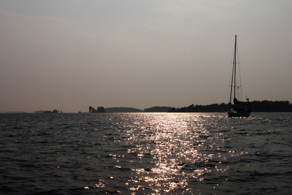 St. Lawrence River Thousand Islands sailboat Lake Ontario New York Clayton