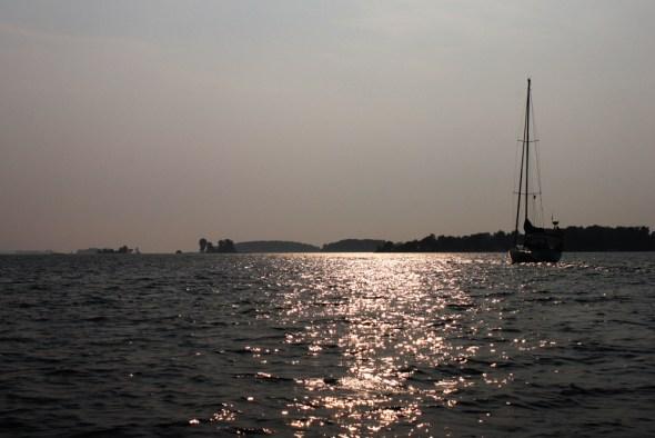 St. Lawrence River Thousand Islands sailboat Lake Ontario New York Clayton