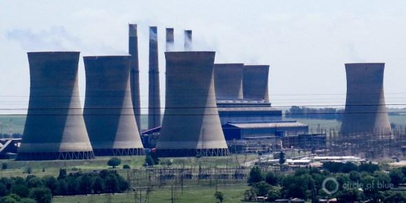 South Africa drought coal power plants Johannesburg