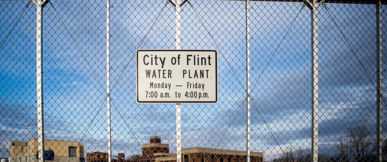 Flint Michigan drinking water plant J Carl Ganter infrastructure