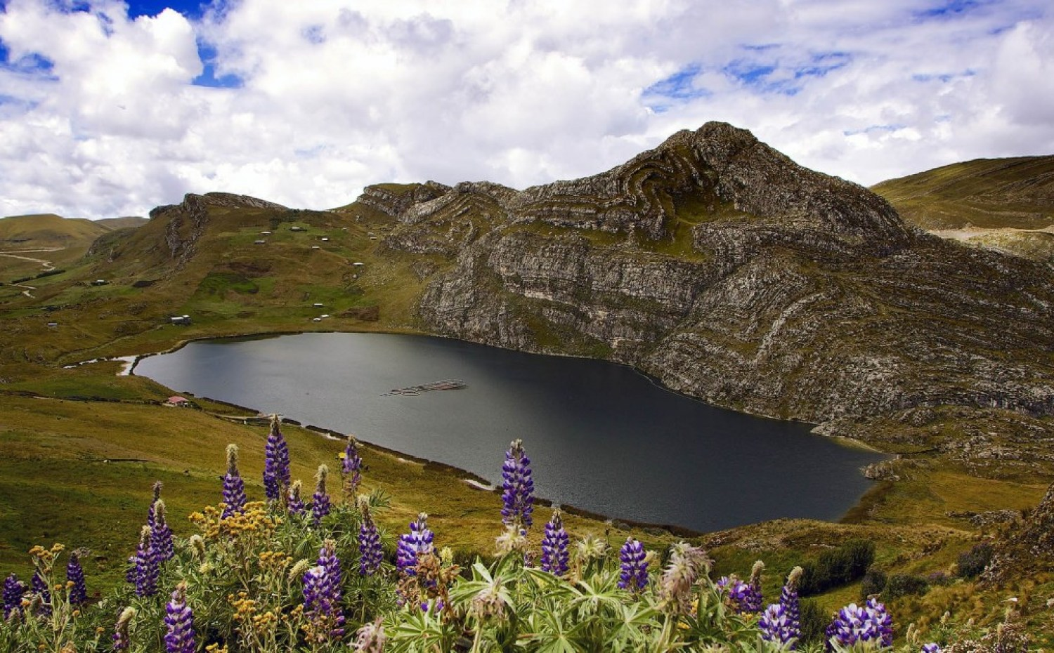 The Andes, the world's second-highest mountain range, are a picturesque scene of meadows and bare peaks, north of Cajamarca, where the Conga mine would have been located. Photo © J. Carl Ganter / Circle of Blue