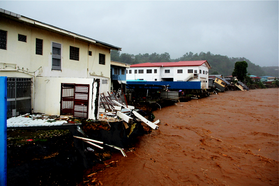 Over a period of three days in April 2014, more than 600 millimeters of rain fell on Honiara, the capital of the Solomon Islands. The storm exposed severe vulnerabilities in the city's health infrastructure, of which 75 percent is located in areas vulnerable to damage by a future flood event. Photo © Eileen Natuzzi